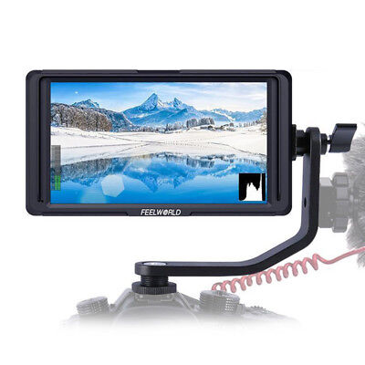 Feelworld F6S 5Inch IPS 1920 x 1080 4K HDMI Camera Field Monitor + Battery Pack