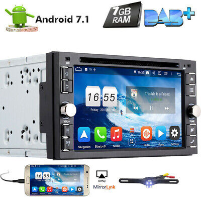 "6.2"" Android 7.1 Double 2DIN In dash Car stereo Radio DVD Player GPS WiFi+CAMERA"