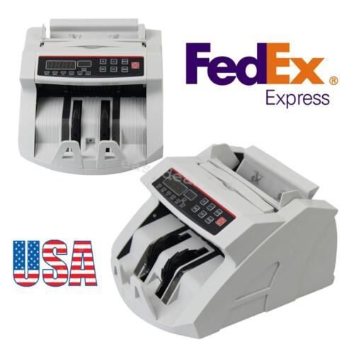 US Automatic Money Bill Currency Counter Machine Counterfeit Detector UV MG Cash