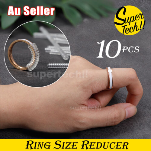 Jewellery - 10x Ring Size Adjuster Reducer Spiral Invisible Guard Resizer Jewellery Tools AU