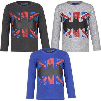 Neu Langarmshirt Jungen Shirt Batman Pullover blau grau braun 98 104 116 128 #95