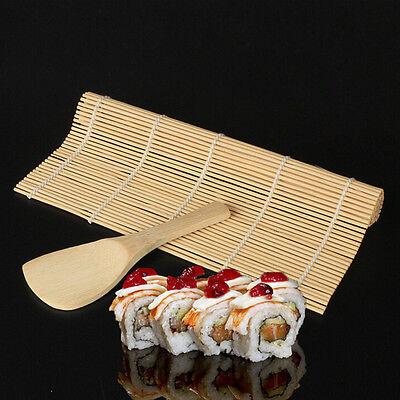 New Sushi Maker Kit Rice Roll Mold Kitchen DIY Mould Roller Mat Rice Paddle Set