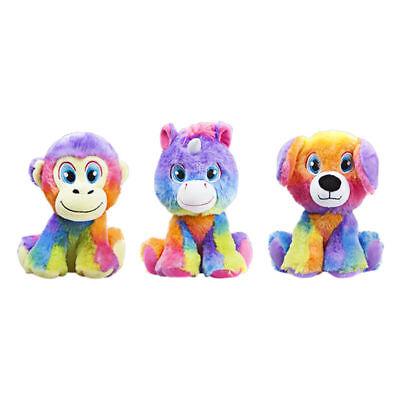 tofftiere Einhorn, Hund, Affe Kuscheltier Plüschtier Teddy  (Regenbogen Affe Plüsch)