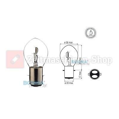 Glühlampe Glühbirne 12V 35/35W BA20d Biluxlampe S2 E-Prüfzeichen - im Karton