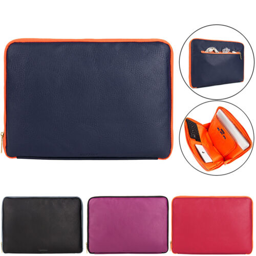 """VanGoddy Leather Laptop Sleeve Case Carry Bag For 15.6"""" Dell"""