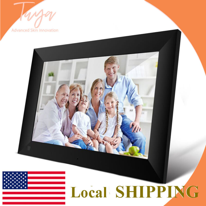 """10"""" Wi-Fi 16GB TouchScreen Digital Picture Frame Xmas Gift Email Photos Anywhere"""