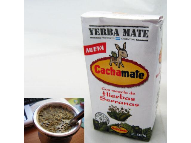 Yerba Mate Cachamate 500 g Argentina Green Tea Loose Bag Blend 1.1 Lb Herbal New