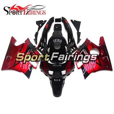 Candy Red Black ABS Fairings For Honda CBR600F2 1991 1992 93 1994 Bike Body Kit