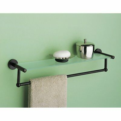 Tempered Glass Shelf w Towel Bar
