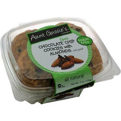 Almond Fat Free Biscotti - Aunt Gussie's-Sugar Free Spelt Chocolate Chip Almond Biscotti (8-8 oz boxes)
