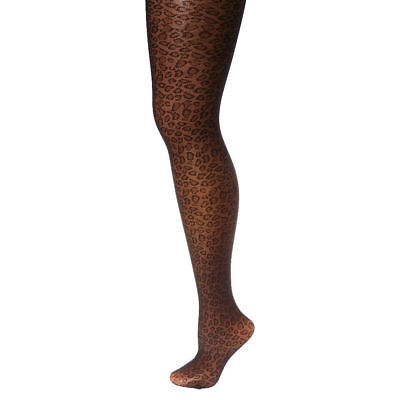 Claire's Halloween Black Leopard Print Tights Ladies Size M/L New