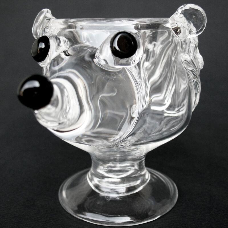 Hedgehog Coffee Mug Hand Blown Crystal Wine Glass