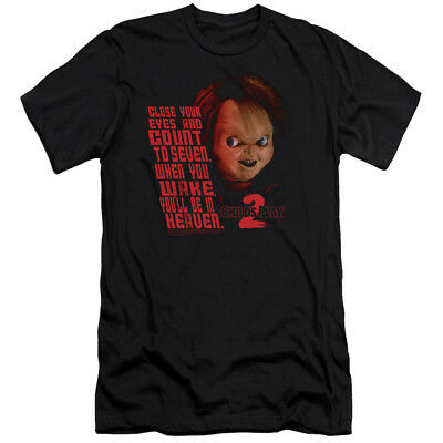 Childs Play Slim Fit T-Shirt Close Your Eyes Black Tee