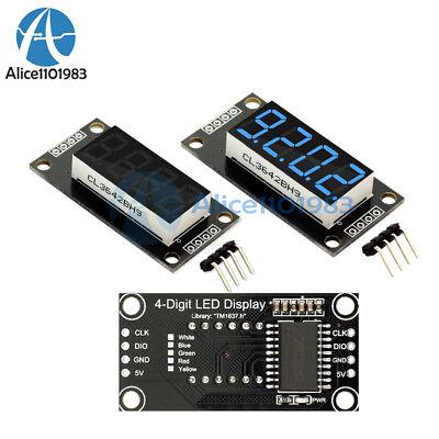 0.36 Tm1637 4-digit 7-segment Tube Led Blue Digital Display Module For Arduino