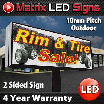 Led Sign Outdoor Full Color Double Sided Led Programmable Message Digital Sign