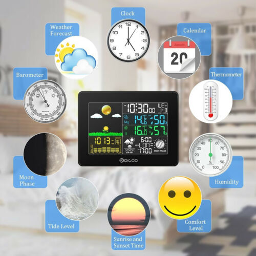 USB Thermometer/Hygrometer Digoo DG-TH8868 Clock Wireless Weather Station