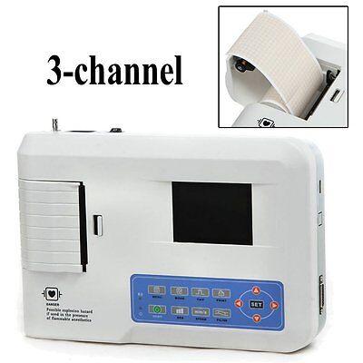 Ecg300g Contec 3 Channel 12 Leads Ecg Machine Electrocardiograph Usapromotion