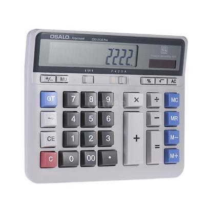 Ziffer Batterie (Großer 12 Ziffern Taschenrechner Rechenmaschine Rechner Bürorechner Tischrechner)
