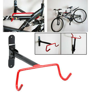 Garage Wall Mounted Bike Storage Rack Bicycle Cycle Hook Holder Fitting Screws