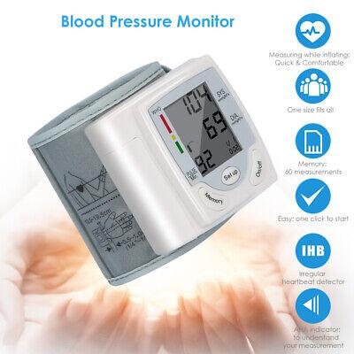 LCD Digital Automatic Digital Wrist Blood Pressure Monitor BPCuff Machine Device