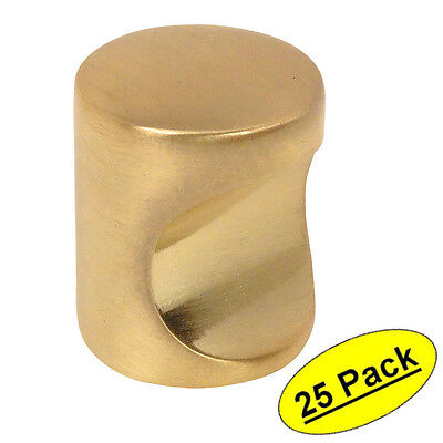 (*25 Pack* Cosmas Cabinet Hardware Brushed Brass Contemporary Finger Pull #3312BB)