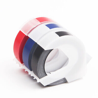 3pack Replacement Dymo 3d Plastic Embossing Tapes For Label Makers 38 Width