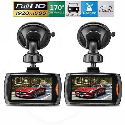 2 Pack  Hd 2 7  Lcd 1080P Dash Cam Car Dvr Vehicle Camera Video Recorder