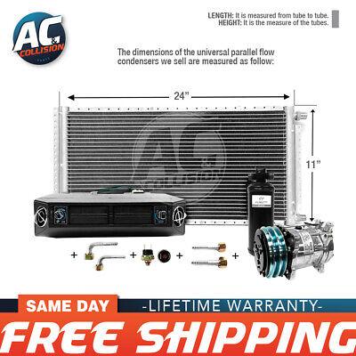 AC Kit Universal Evaporator Underdash Unit Compressor and Condenser 11 x 24