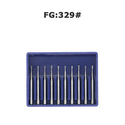 Dental Carbide Burs Fg 329 Pear For High Speed Handpiece Friction Grip Midwest