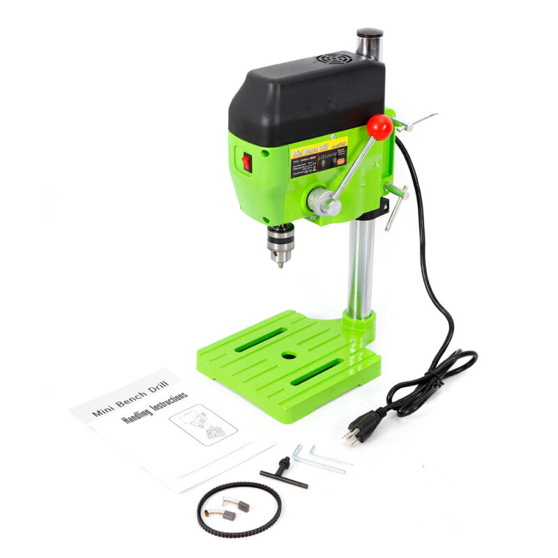 Electric Bench Drill Press Stand Metal Drilling Machine Drill DIY 110V 480W USA