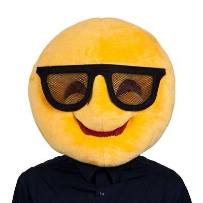 Wicked Costumes Adults Cool Emoticon Emoji Smiley Face Sunglasses Funny Head... (Cool Sunglasses Emoticon)