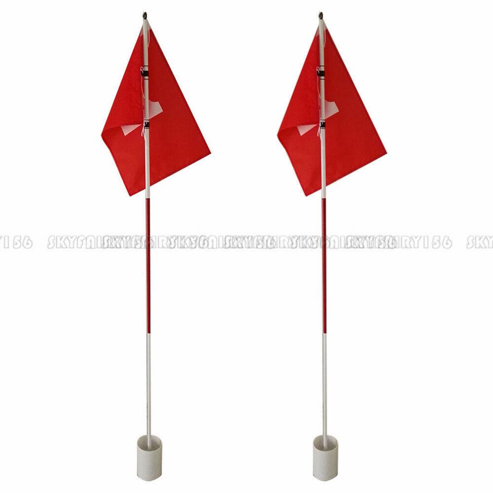 Set Of 2 Backyard Practice Golf Hole Pole Cup Flag Stick