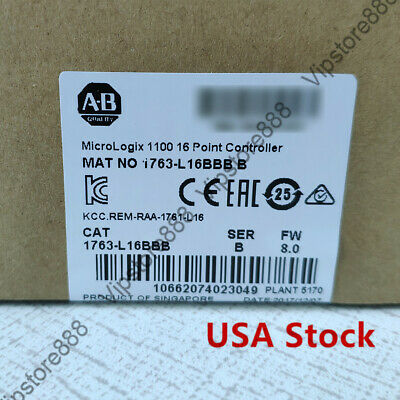 Ab 1763-l16bbb Micrologix 1100 24v Dc Power 10 24v Dc Digital Inputs