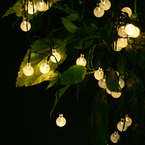 String Lights That Do Not Need To Be Plugged In : 30 LED Crystal Ball Solar Powered Outdoor Waterproof String Lights Christmas New eBay