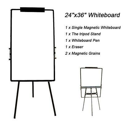 36x24 Magnetic Dry Erase Easel White Board Tripod Stand Display Adjustable