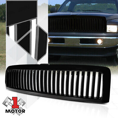 Glossy Black ABS Vertical Bar Billet Grille/Grill for 94-01 Ram 1500/2500/3500