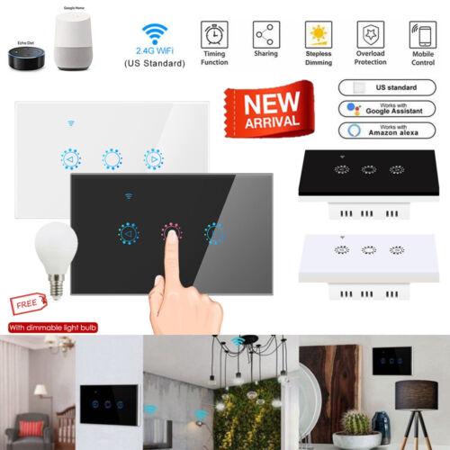 1 Gang Smart WiFi Touch Light Dimmer Switch Panel for Alexa