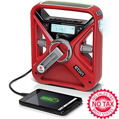 Weather Alert Radio Noaa Am Fm Light Hand Crank Solar Power Usb Charger Battery