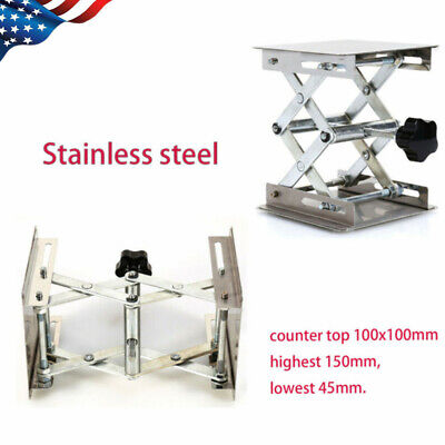 Stainless Steel Lab Jack Stand Labjack Scissor Platform Lift Rack High Quality