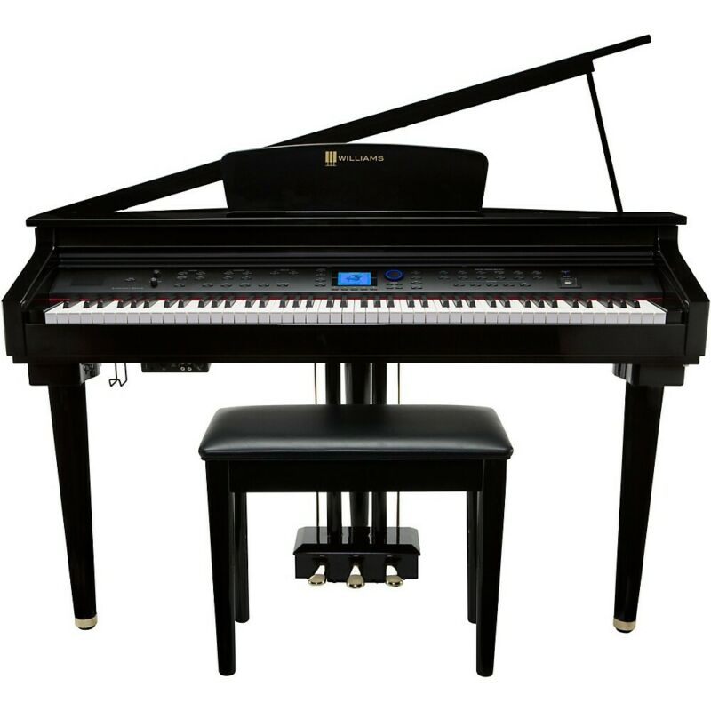 Williams Symphony Grand Digital Piano with Bench Ebony Polish