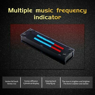 30bit Audio Level Indicator Panel Vu Meter Dual Channel Led Assembled Board Dc5v