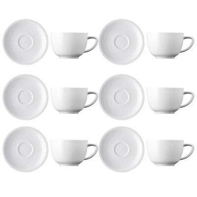 Thomas Amici 6 Sets Cappuccinotassen Tee-Tassen Porzellan Weiß Spülmaschinenfest