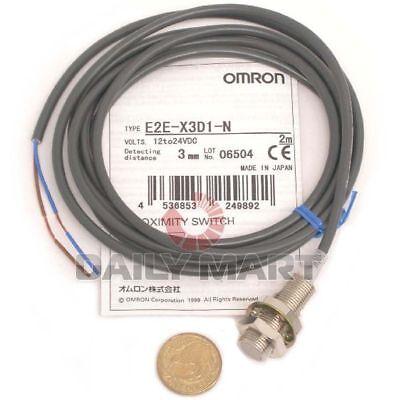 New Omron E2e-x3d1-n 2m 2-wire Standard Proximity Sensor 1224vdc