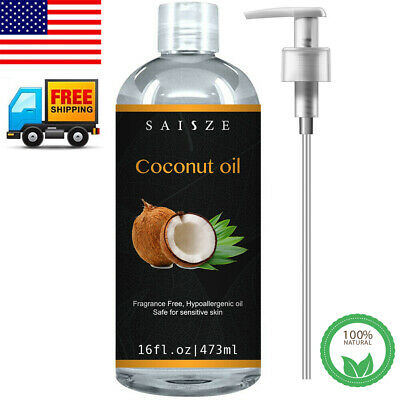 Pure Cold Pressed Coconut Oil Massage Oil for Hair Growth, Skin & Face Care