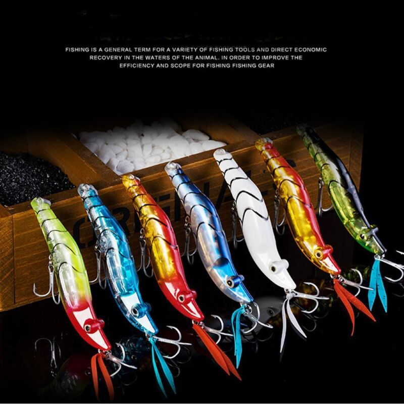 Tintenfisch-Jigs-Angelköder Leuchtende Harte Jig-Köder Haken Garnelen