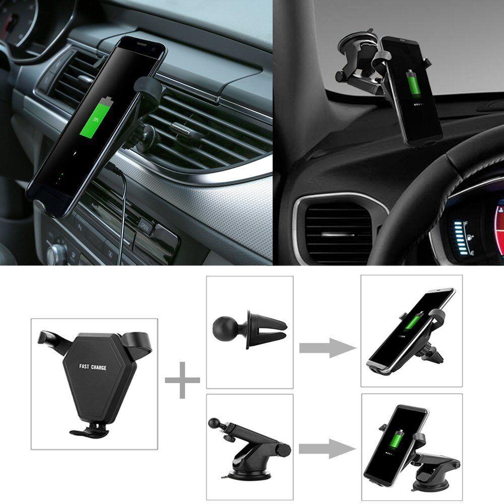 Fast Wireless Car Charger Car Air Vent Dashboard Holder Moun