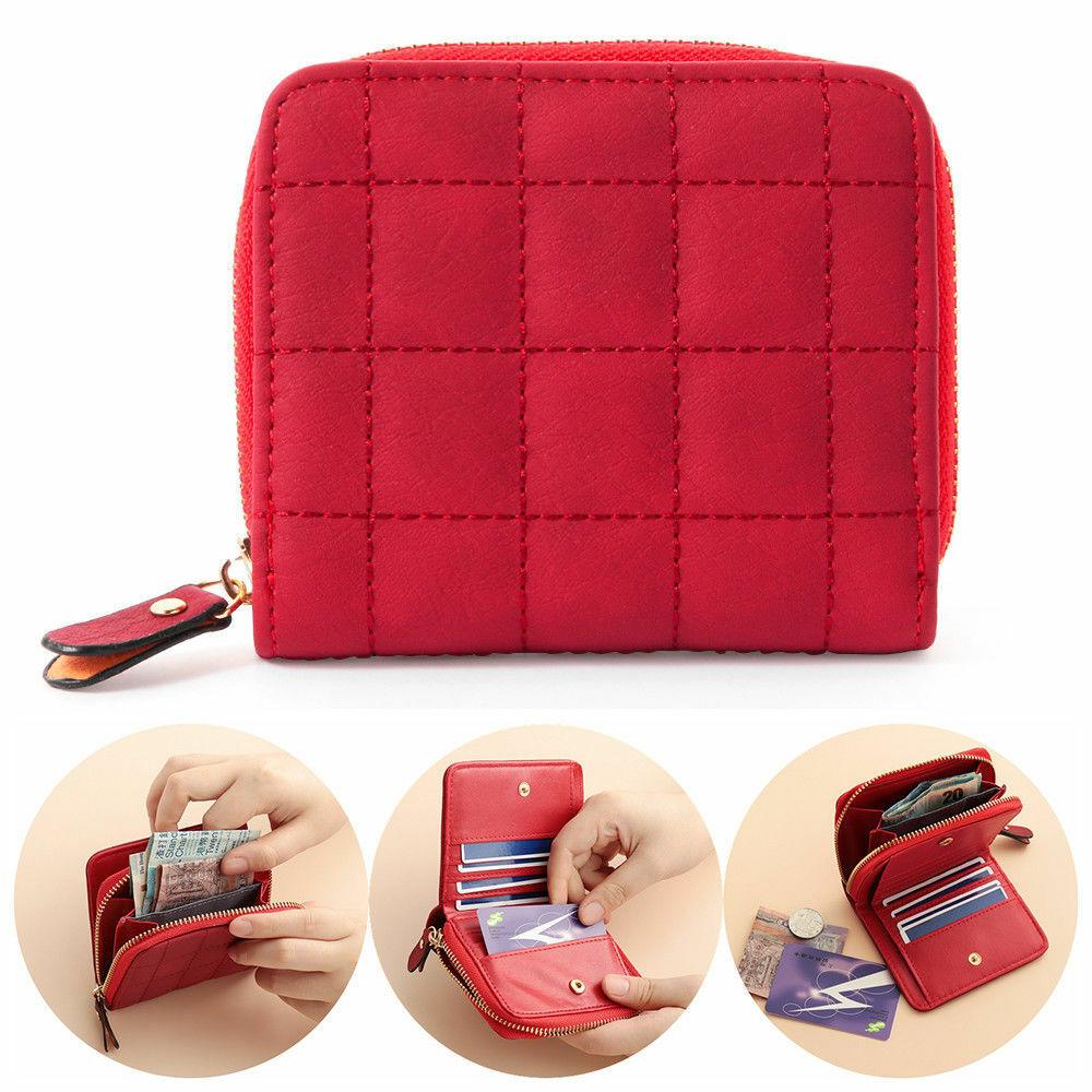 Women PU Leather Small Wallet Card Holder Zipper Coin Mini Purse Clutch Handbag Clothing, Shoes & Accessories
