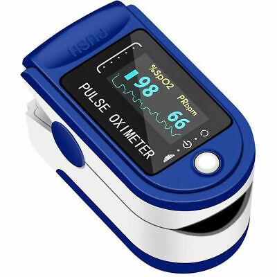 Pulse Oximeter Fingertip Blood Oxygen Spo2 Monitor Pr Pi Heart Rate Fast Ship
