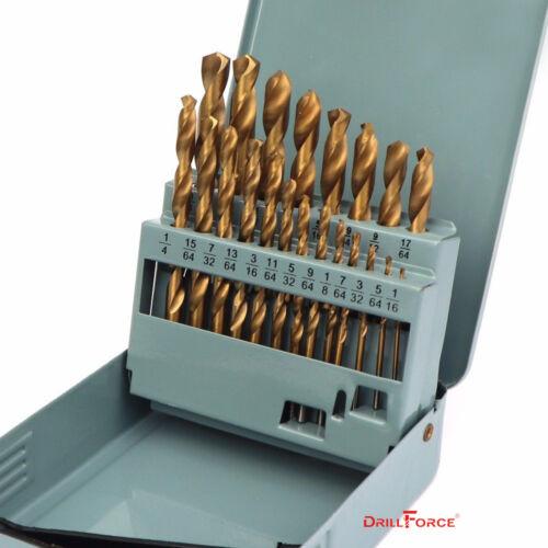 21PCS Drill Bit Set HSS Titanium Multi-Bits Twist Metal Tool