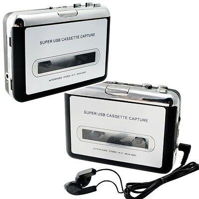 USB Cassette Tape to MP3 iPod CD Converter Capture Audio Music Player walkman AB